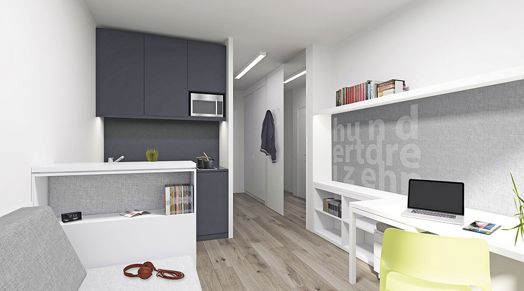 campus viva student apartment berlin. Black Bedroom Furniture Sets. Home Design Ideas